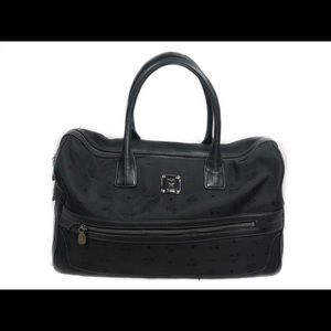 MCM Nylon Visetos Handle Bag Black authentic